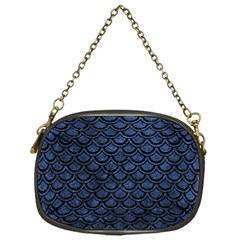 Scales2 Black Marble & Blue Stone (r) Chain Purse (one Side) by trendistuff