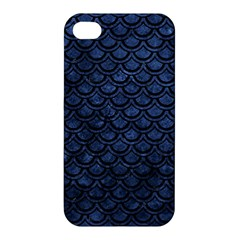 Scales2 Black Marble & Blue Stone (r) Apple Iphone 4/4s Hardshell Case by trendistuff