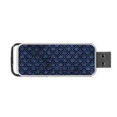 Scales2 Black Marble & Blue Stone (r) Portable Usb Flash (two Sides) by trendistuff