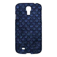 Scales2 Black Marble & Blue Stone (r) Samsung Galaxy S4 I9500/i9505 Hardshell Case by trendistuff