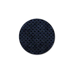 Scales2 Black Marble & Blue Stone Golf Ball Marker by trendistuff