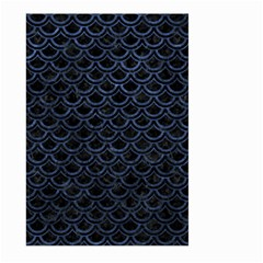 Scales2 Black Marble & Blue Stone Large Garden Flag (two Sides) by trendistuff