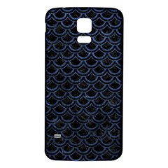 Scales2 Black Marble & Blue Stone Samsung Galaxy S5 Back Case (white) by trendistuff