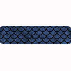 Scales1 Black Marble & Blue Stone (r) Large Bar Mat by trendistuff