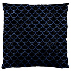 Scales1 Black Marble & Blue Stone Large Cushion Case (two Sides) by trendistuff