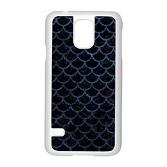 Scales1 Black Marble & Blue Stone Samsung Galaxy S5 Case (white) by trendistuff