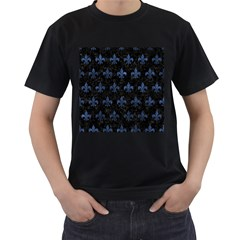 Royal1 Black Marble & Blue Stone (r) Men s T Shirt (black) (two Sided) by trendistuff