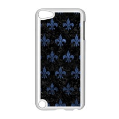 Royal1 Black Marble & Blue Stone (r) Apple Ipod Touch 5 Case (white) by trendistuff
