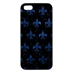 Royal1 Black Marble & Blue Stone (r) Apple Iphone 5 Premium Hardshell Case by trendistuff
