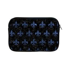 Royal1 Black Marble & Blue Stone (r) Apple Ipad Mini Zipper Case by trendistuff