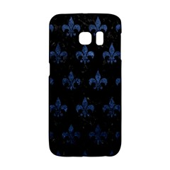 Royal1 Black Marble & Blue Stone (r) Samsung Galaxy S6 Edge Hardshell Case by trendistuff