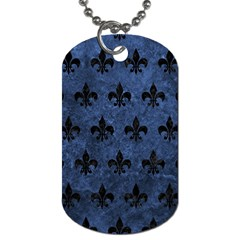Royal1 Black Marble & Blue Stone Dog Tag (two Sides) by trendistuff