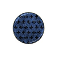 Royal1 Black Marble & Blue Stone Hat Clip Ball Marker by trendistuff