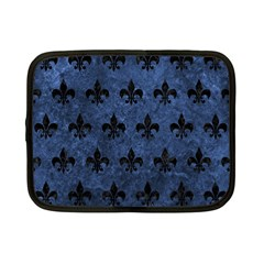 Royal1 Black Marble & Blue Stone Netbook Case (small) by trendistuff