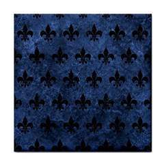 Royal1 Black Marble & Blue Stone Face Towel by trendistuff