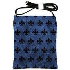 Royal1 Black Marble & Blue Stone Shoulder Sling Bag by trendistuff