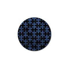 Puzzle1 Black Marble & Blue Stone Golf Ball Marker by trendistuff