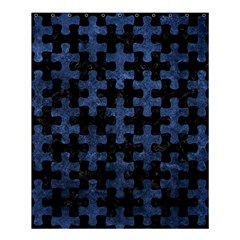 Puzzle1 Black Marble & Blue Stone Shower Curtain 60  X 72  (medium) by trendistuff