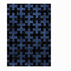 Puzzle1 Black Marble & Blue Stone Large Garden Flag (two Sides) by trendistuff