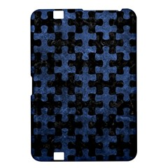 Puzzle1 Black Marble & Blue Stone Kindle Fire Hd 8 9  Hardshell Case by trendistuff