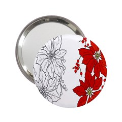 Poinsettia Flower Coloring Page 2 25  Handbag Mirrors by Simbadda