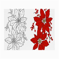 Poinsettia Flower Coloring Page Small Glasses Cloth by Simbadda