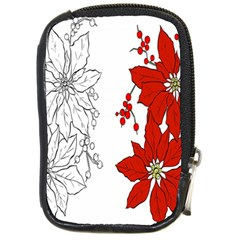 Poinsettia Flower Coloring Page Compact Camera Cases by Simbadda
