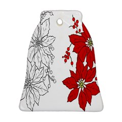 Poinsettia Flower Coloring Page Ornament (bell) by Simbadda
