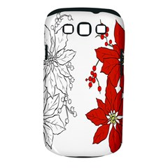 Poinsettia Flower Coloring Page Samsung Galaxy S Iii Classic Hardshell Case (pc+silicone) by Simbadda