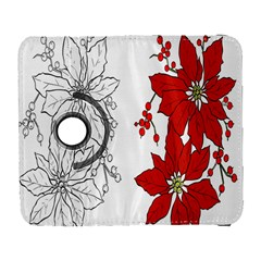 Poinsettia Flower Coloring Page Galaxy S3 (flip/folio) by Simbadda