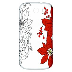 Poinsettia Flower Coloring Page Samsung Galaxy S3 S Iii Classic Hardshell Back Case by Simbadda