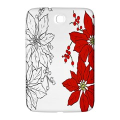 Poinsettia Flower Coloring Page Samsung Galaxy Note 8 0 N5100 Hardshell Case  by Simbadda