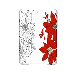 Poinsettia Flower Coloring Page Ipad Mini 2 Hardshell Cases by Simbadda