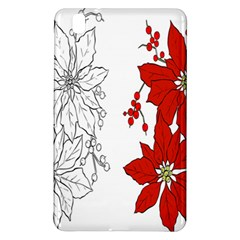 Poinsettia Flower Coloring Page Samsung Galaxy Tab Pro 8 4 Hardshell Case by Simbadda