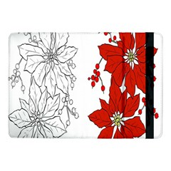 Poinsettia Flower Coloring Page Samsung Galaxy Tab Pro 10 1  Flip Case by Simbadda