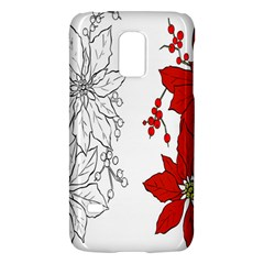 Poinsettia Flower Coloring Page Galaxy S5 Mini by Simbadda