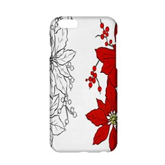 Poinsettia Flower Coloring Page Apple Iphone 6/6s Hardshell Case by Simbadda