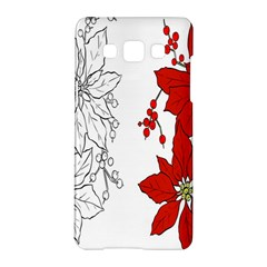 Poinsettia Flower Coloring Page Samsung Galaxy A5 Hardshell Case  by Simbadda