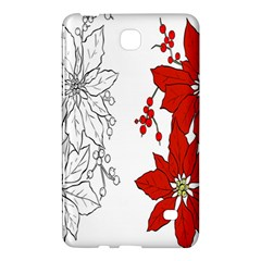 Poinsettia Flower Coloring Page Samsung Galaxy Tab 4 (8 ) Hardshell Case  by Simbadda