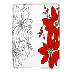 Poinsettia Flower Coloring Page Samsung Galaxy Tab S (10 5 ) Hardshell Case  by Simbadda