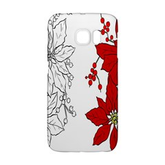 Poinsettia Flower Coloring Page Galaxy S6 Edge by Simbadda