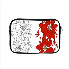 Poinsettia Flower Coloring Page Apple Macbook Pro 15  Zipper Case by Simbadda