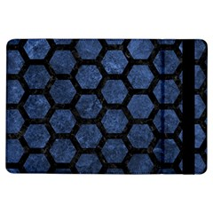 Hexagon2 Black Marble & Blue Stone (r) Apple Ipad Air Flip Case by trendistuff