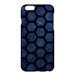 Hexagon2 Black Marble & Blue Stone (r) Apple Iphone 6 Plus/6s Plus Hardshell Case by trendistuff