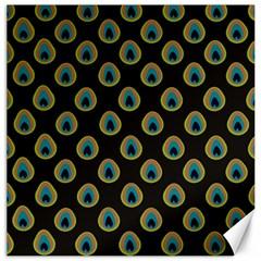 Peacock Inspired Background Canvas 16  X 16   by Simbadda