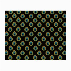 Peacock Inspired Background Small Glasses Cloth (2 Side) by Simbadda