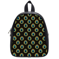 Peacock Inspired Background School Bags (small)  by Simbadda