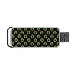 Peacock Inspired Background Portable Usb Flash (two Sides) by Simbadda