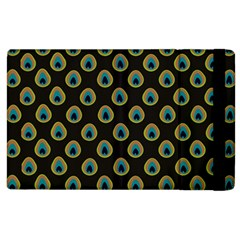 Peacock Inspired Background Apple Ipad 2 Flip Case by Simbadda