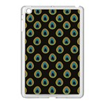 Peacock Inspired Background Apple iPad Mini Case (White) Front